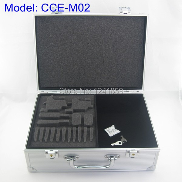 Silver Aluminum Alloy Tattoo Kit Carrying Box Case For Tattoo Kit Set Supply CCE-M02#<br>