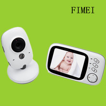 3.2 inch Wireless Video Color Baby Monitor High Resolution Baby Nanny Security Camera Night Vision Temperature Monitoring Camera