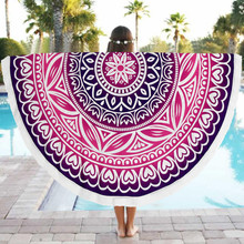 Summer Pashmina Women Scarves Shawls Boho Beach Towel Bikini Cover up Round Pool Home Shower Blanket Floral Print Scarf Wrap #JO