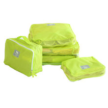 5pcs/set Waterproof Travel Accessories Polyester Women Packing Cubes Portable Men's Travel Bags