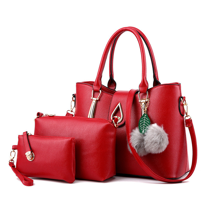 New to luxury fashion handbags female designer women bag high-capacity Messenger bag high-quality 3-piece set of handbags 8 colo<br><br>Aliexpress