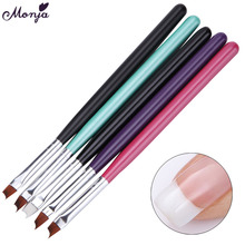 5 Colors Oblique Head French Tip Nail Art Brush Acrylic UV Gel Polish Painting Drawing 3D Wave Curved Line DIY Image Design Pen(China)