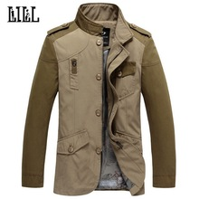 2017 Men's Casual Windbreaker Jacket Spring Mens Trench Coat Men Military Jackets And Coats Army Khaki Jacket Pockets,UMA378