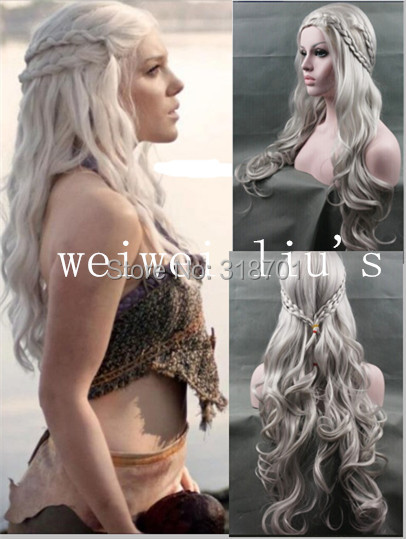 cosplay wig New Arrival Game of Thrones Daenerys Inspired Hair Cosplay Hair wigs blonde ,Silver for you choose free shipping<br><br>Aliexpress