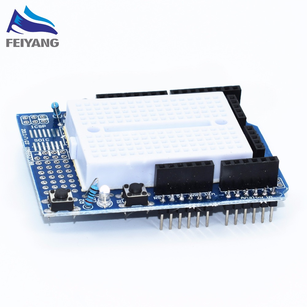 Smart Electronics UNO Proto Shield prototype expansion board with SYB-170 mini breadboard based For UNO ProtoShield DIY 1
