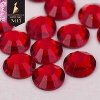 Crystal Castle 4A glass flatback rhinestone Light Siam non hot fix crystal  none glue no hotfix 8fe683966540