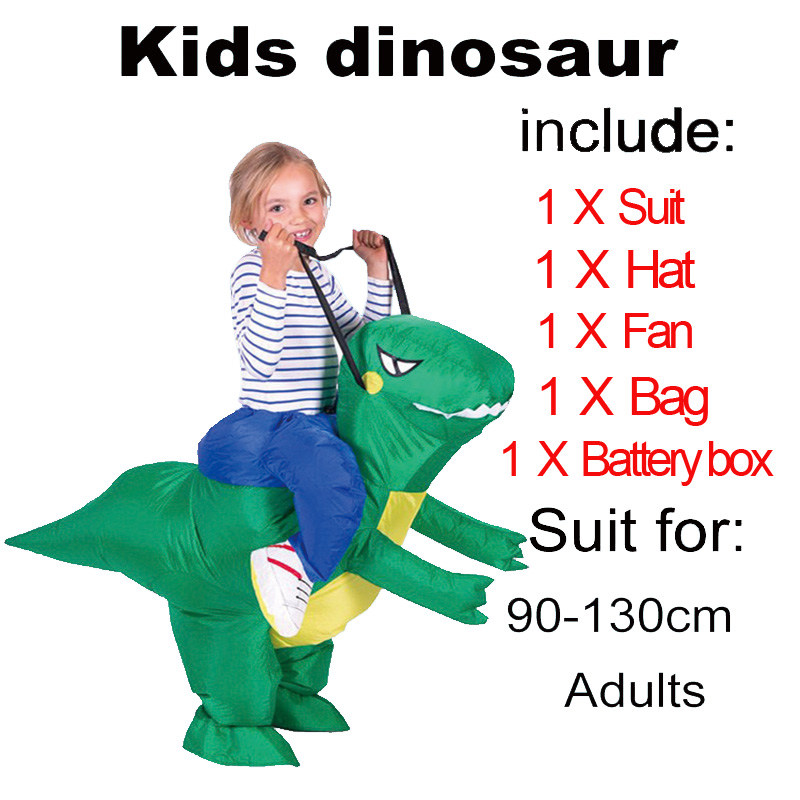 Party Adult t rex Dinosaur Costume Halloween Cosplay Inflatable Dinosaur T REX Blowup Halloween Mascot Costumes for Women Man (1)