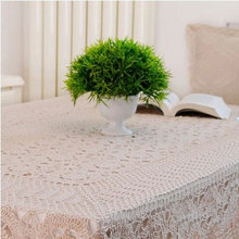 130*130cm Handmade Table Cloth Crochet Table Runner Dining Party Tablecloth Lace Tablecloths For Weddings Nappe Free Shipping