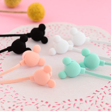 Cute Cartoon Mouse Earphone in-ear Earbuds Candy Color Girl Earphone Universal for Kids for iPhone Xiaomi Samsung Lenovo Nokia(China)