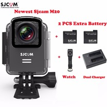 Original SJCAM M20 Wifi Helmet 30M Waterproof Sports Action Camera Sj Cam DV+2 Extra Battery+Dual Charger+Remote Watch(China)