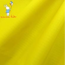 40D Yellow Ultralight Nylon Ripstop Fabric Waterproof Tent Fabric PU Coated Kite Fabric Color Free Shipping