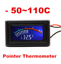 Digital LCD Pointer Thermometer -50-110C  C/F for Computer Case Car Water Temperature Meter DC 5-25V Gauge 40% off