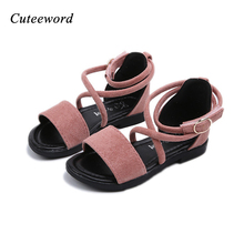 Buy Summer style children sandals Girls princess Fashion Roman Shoes kids flat Sandals baby beach Shoes soft bottom Girl Sandal for $10.50 in AliExpress store
