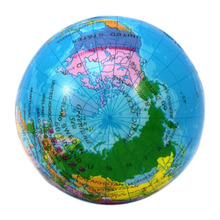 Round Ball Massage World Map Foam Earth Globe Hand Wrist Exercise Stress Relief Squeeze Massage Ball