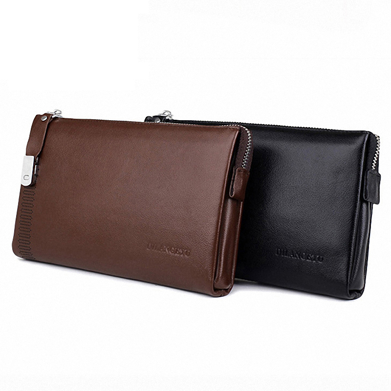 100% Guarantee Genuine Cow Leather Men Wallet Brand Designer Clutch Bag Monedero Large Capacity Purses Carteras Billetera Hombre<br><br>Aliexpress
