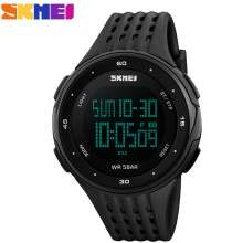 SKMEI Brand Shock Sports Watches Men Stopwatch Waterproof LED Digital Military Watch Students Fashion Casual Pu Strap Wristwatch