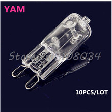 10Pcs/lot G9 Base Bright Halogen Light Bulb 40W 230V #S018Y# High Quality