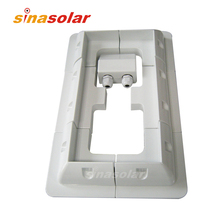 Special Price White ABS Solar Panel Mounting Bracket System For Caravan Motorhome RV(China)
