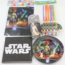 51pc\lot Star Wars Happy Birthday Party Decoration Tablecloth Cartoon Napkins Baby Shower Paper Cups Kids Favors Plates Supplies
