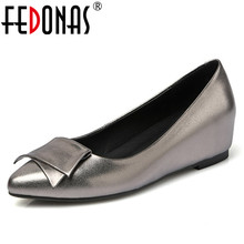 Buy FEDONAS Fashion Women Genuine Leather Ladies Pumps Comfort Wedges High Heels Shoes Wedding Office Pumps Spring Autumn Shoes for $45.76 in AliExpress store