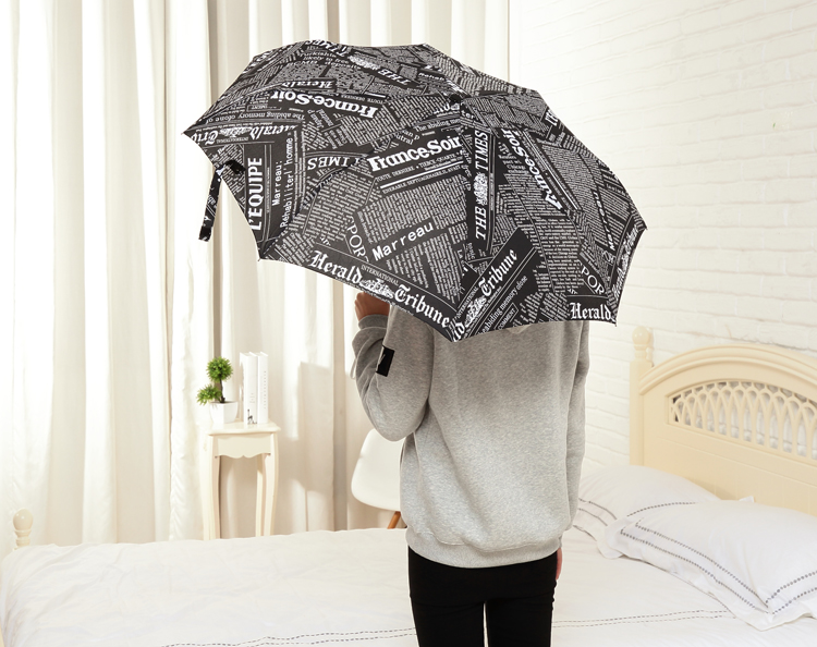 Automatic Umbrella Three-folding Newspaper Umbrella Sunny and Rainy Anti-UV  Well Toughness Classic Women Gentle Parasol - us62 df285e5a0a