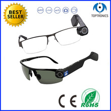 2016 New arrival CCTV Long Distance Recordable Eye Glasses Video Stream Camera Glasses live video streaming wearable glasses(China)