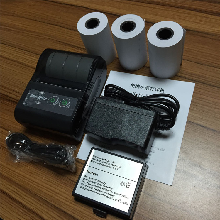 Mini Portable Rechargeable Android Bluetooth 2.0 58mm 203DPI Thermal Receipt Printer for Restaurant Supermarket<br>