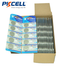 100Pcs/20Pack PKCELL CR2032 DL2032 KCR2032 5004LC ECR2032 3V Lithium Button Coin Cell Battery For Watch Calculator Tea Light(China)