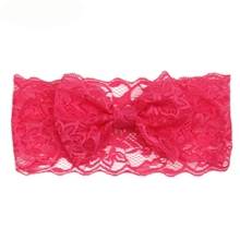 Headbands Newly Design Fashion Girls Lace Big Bow Hair Band Children Head Wrap Headwear Band Accessories Drop Shipping