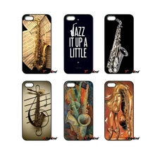 For Xiaomi Redmi Note 2 3 3S 4 Pro Mi3 Mi4i Mi4C Mi5S MAX iPod Touch 4 5 6 Saxophone and Rose Note Music Cell phone case Cover