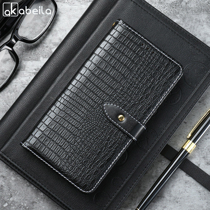 AKABEILA Retro PU Leather Case Elephone S8 Case FLip Wallet Cases Elephone S8 Cover Coque Card Slot S 8 6.0 inch