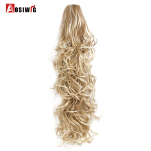 Buy AOSIWIG High Temperature Synthetic Fiber Hairpieces Long Wavy Claw Clip Ponytail Hair Extensions Women for $10.43 in AliExpress store