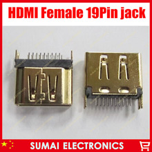 free shipping 50pcs/lot HDMI female plug socket jack,HD TV Interface and laptop ect.
