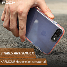 ROCK Anti knock Case for iPhone 8 7 Guard Series Soft TPU + TPE Drop protection Phone Shell for iphone 7 plus 8 Plus(China)