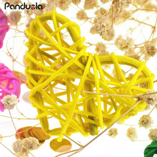 10PCS Heart Sepak Takraw Christmas Birthday baby shower decorations Rattan Ball 6cm decoration mariage diy craft Rattan Balls(China)