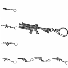 Classic Shooting Game Gun Pendant Keychain Submachine Machine Sniper Revolver Gun AK 47 & M16 & Desert Eagle Charms Keyring Men(China)