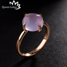 Queen Lotus 2017 new Korean simple fashion ring Cat eye stone personality silver Gold rings women High quality ladies jewelry(China)