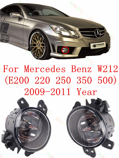 For mercedes-benz W212  E200/220/250/350/500  2009/10/11 FOG LAMPS Fog Lights car styling  Round<br>