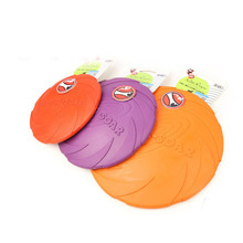 New Dog Toy Soft Eco-friendly Natural Rubber Pet Dog Frisbee Flying Disc Training Toy for Dogs S/M/L(China)