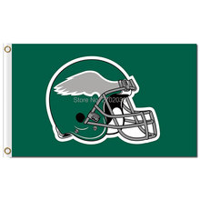 Philadelphia Eagles Flag 3ftx5ft Polyester World Series Football Green Helmet Flag Philadelphia Eagles Banner Team Flag(China)