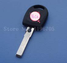 Free Shipping transponder key shell for VW Polo Golf Bora Jetta Transponder Beetle Passat Touran  car key case