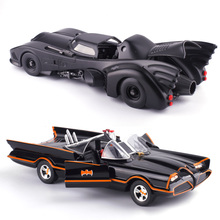 Cool 1:24 Movie Style Black Batman Die-cast alloy car model Children Racing Car Toys Batmobile door can open Home collection(China)