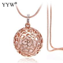 YYW 2 Colors Round Perfume Aromatherapy Pendant Essential Oil Diffuser Pregnant Ball Locket Cage Colorful Pendant Women's Gift(China)