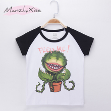 2018 Special Discount Children Clothes Kids T-shirt Corpse flower Cotton Child Boys Short T Shirts Baby Girl Tops Free Shipping(China)