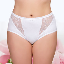 Buy Womens Sexy Lace Panties 95% Cotton 5% Spandex Mid-Rise Underwear Plus Size Lady Knickers Briefs Comfortable Undies Knickers