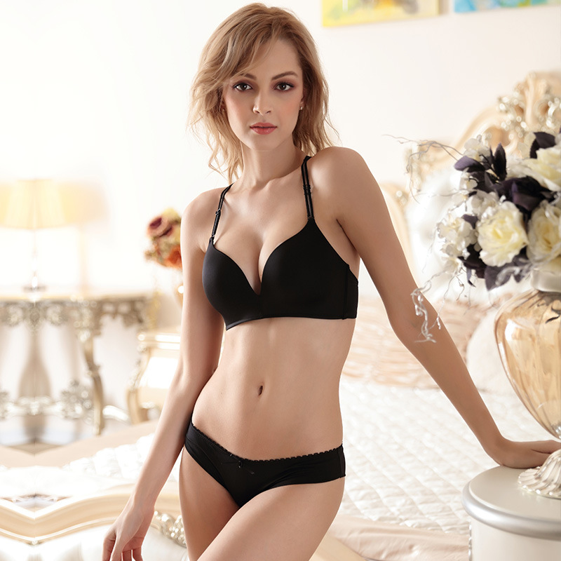 New Fashion Brand Seamless Lace Bra Set Women Underwear Sexy Push Up Bras and Lace Butterfly Strap Panty Set BS289 2
