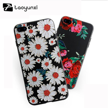 3d Embossing Soft Silicone Tpu Case For Apple Iphone 6 6s 7 Case With Dust Plug Back Cover For Iphone 6s 7 plus Phone Bags Shell