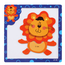 Magnetic board Puzzle toys puzzles material Wood for children 3-7 years old Baby Kids animals magnetic puzzle wooden toys #XT(China)