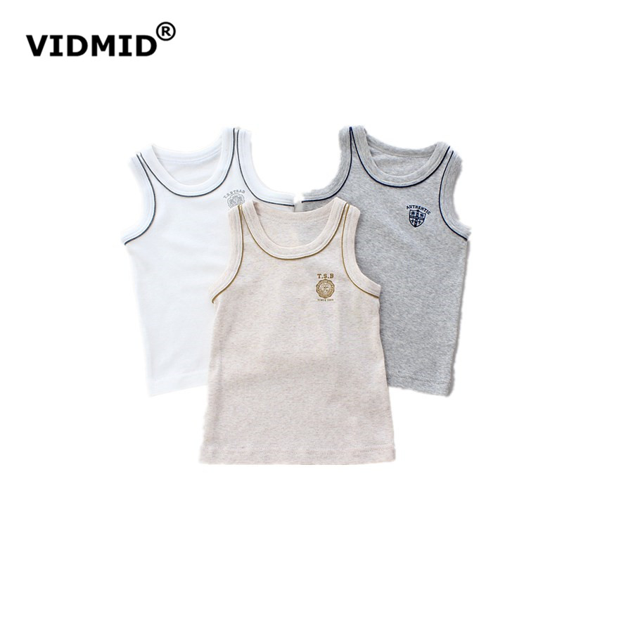 VIDMID 2017 Summer new  boys tanks children\'s vest harness cool  baby clothing boys vest for boy tank simple designer 4003 03