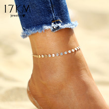 Buy 17KM Gold Color Retro Coin Anklets Women Vintage Yoga Beach Ankle Sequins Bracelet Sandals Brides Shoes Barefoot Gifts for $1.27 in AliExpress store